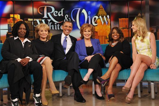 "US President Barack Obama appears on the television show ""The View"""