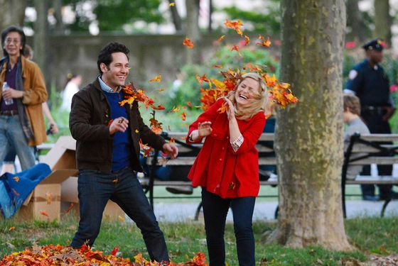 Amy Poehler and Paul Rudd film scenes for 'They Came Together' in Brooklyn Heights, NYC. <P> Pictured: Amy Poehler and Paul Rudd <P><B>Ref: SPL411335  270612  </B><BR/> Picture by: Splash News<BR/> </P><P> <B>Splash News and Pictures</B><BR/> Los Angeles:	310-821-2666<BR/> New York:	212-619-2666<BR/> London:	870-934-2666<BR/> photodesk@splashnews.com<BR/> </P>