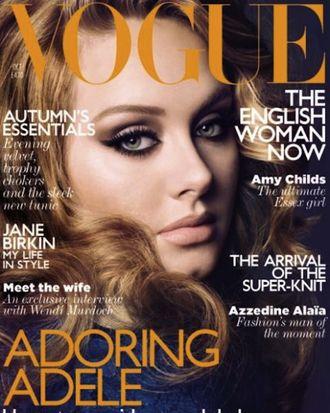 Adele's October British <em>Vogue</em> cover.