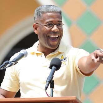 Congressman Allen West attends South Florida Tax Day Tea Party Rally on April 16, 2011 in Boca Raton, Florid