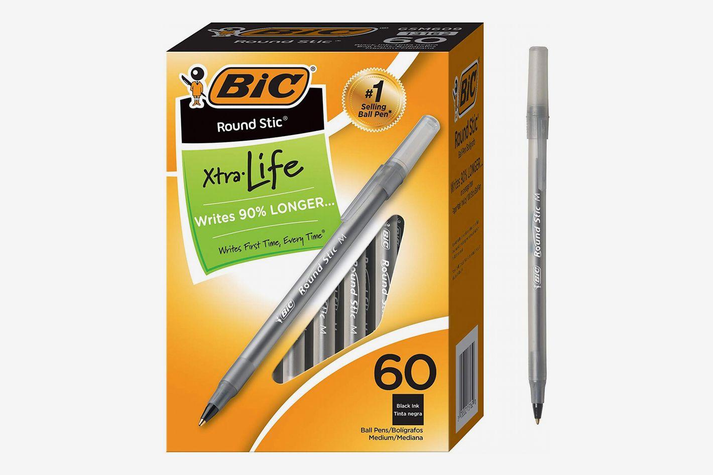 BIC Round Stic Xtra Life Ballpoint Pen, 60 Count