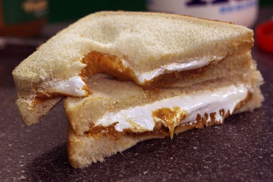 "<b>The Region:</b> Massachusetts  <b>Where to Get It:</b><a href=""http://boston.menupages.com/restaurants/the-gallows/"">The Gallows</a>, at home  It's a no-fail recipe: a smear of peanut butter mixed with marshmallow creme, called <a href=""http://www.marshmallowfluff.com/pages/homepage.html"">Fluff</a>, scooped from an enormous white vat and dribbled onto Wonder bread. Every Massachusetts child goes through a Fluffernutter phase — and many adults still cling to the memories. That's why many Boston restaurants offer grown-up versions (the Gallows's ""Stoner's Delight"" made with fluff brûlée and peanut butter mousse is a fine example). The sandwich was invented in the Boston suburb of Somerville; every year, they put on a <a href=""https://unionsquaremain.org/fluff-festival/"">fluff festival</a> celebrating the homegrown treat."