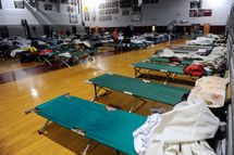 A shelter in Atlantic City, New Jersey. October 30, 2012.