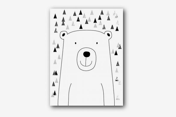 Bear Nursery Print, 8x10 Inches