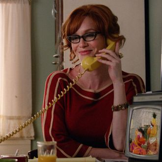 Christina Hendricks as Joan Harris - Mad Men _ Season 7, Episode 14 - Photo Credit: Courtesy of AMC