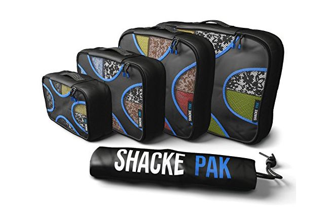 Shacke Pak — 4 Set Packing Cubes — Travel Organizers with Laundry Bag