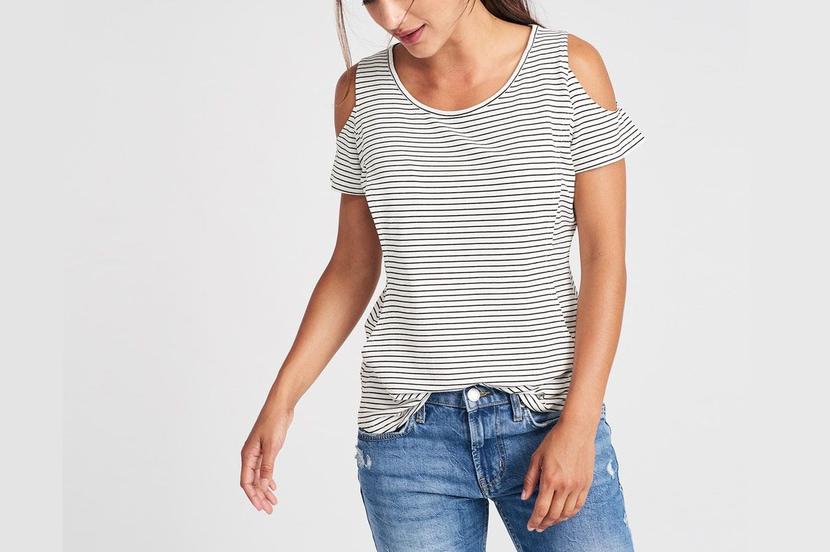 Love Comma Cold Shoulder Nursing Top