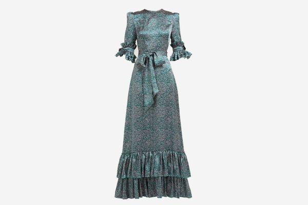 The Vampire's Wife Veneration Leaf-Print Dress