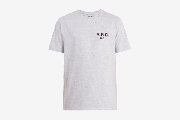 A.P.C. US Star and Logo-Print Cotton-Blend T-shirt