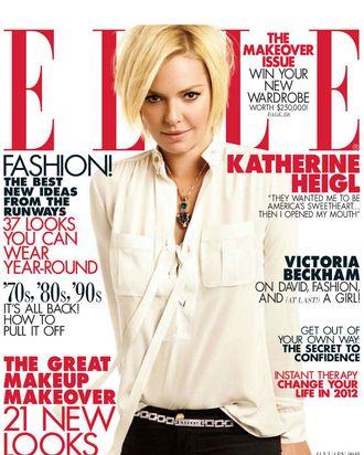Katherine Heigl for <em>Elle</em>.