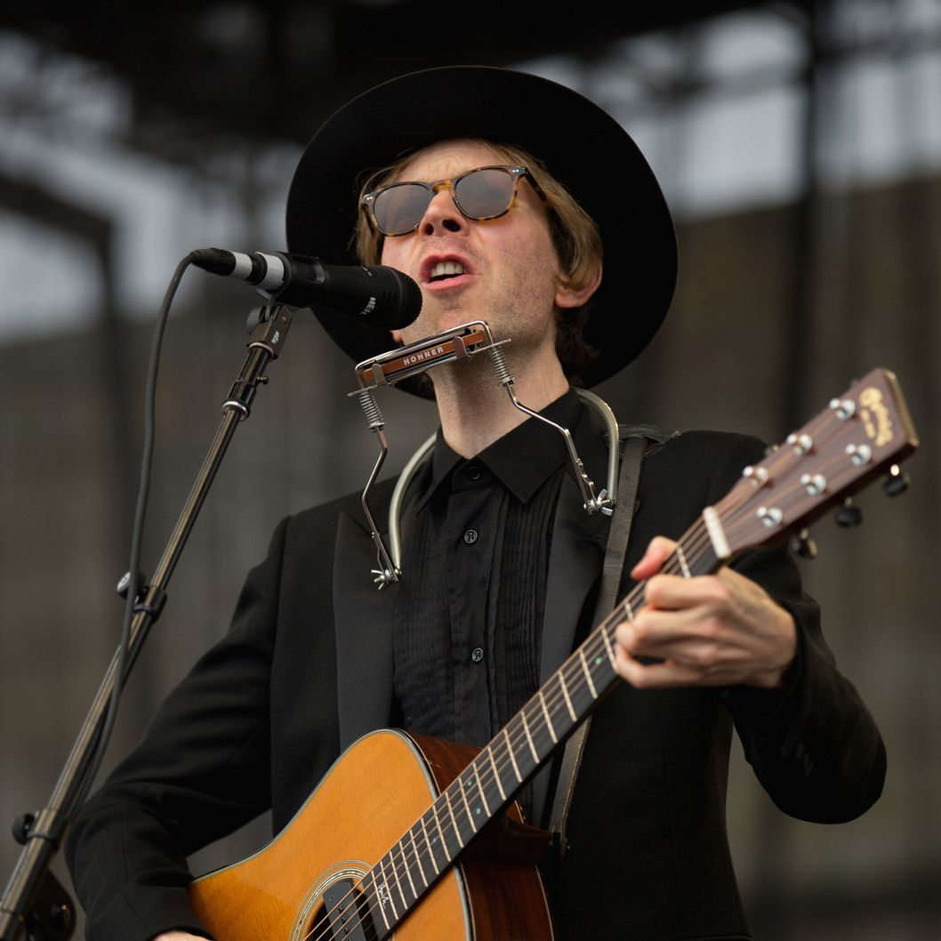 NEWPORT, RI - JULY 28: Beck performs during the 2013 Newport Folk Festival at Fort Adams State Park on July 28, 2013 in Newport, Rhode Island.  (Photo by Douglas Mason/Getty Images)