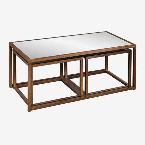 Alvis Three-Piece Coffee-Table Set