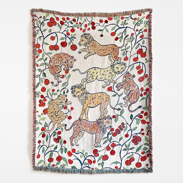 Pomegranate Lions Blanket