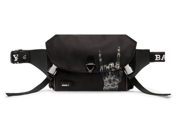 CAGE X FUNK Unisex Nylon Sling Bag in Black