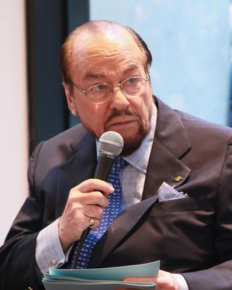 NEW YORK, NY - MAY 03: James Lipton attends the James Lipton and Stanley Cup in store event at NHL powered by Reebok Store on May 3, 2013 in New York City. (Photo by Taylor Hill/Getty Images)