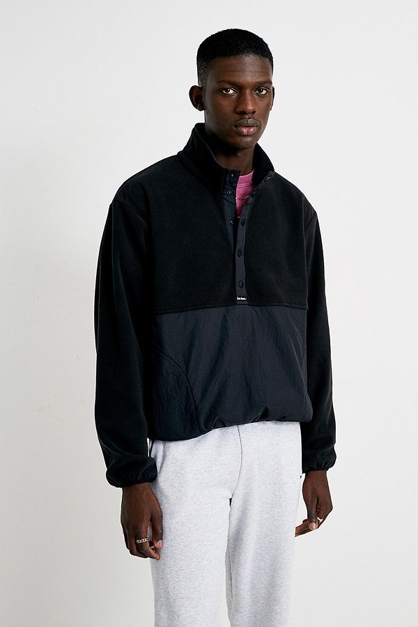 iets frans… Black Polar Fleece Popover Jacket