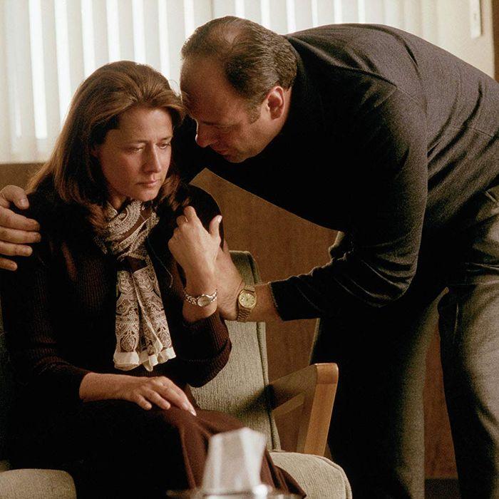 Dr. Jennifer Melfi and Tony Soprano.