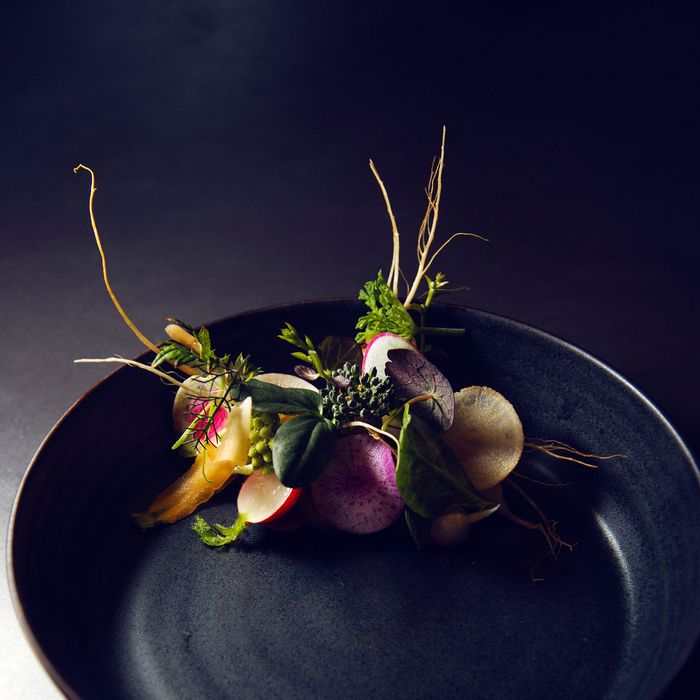 A dish at Atera, where foraging isn't just a buzzword.