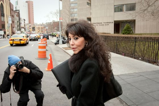 Sandy Annabi, former Yonkers city councilwoman, exits federal court following a pretrial conference in New York, U.S., on Tuesday, Feb. 14, 2012. Annabi is charged with public corruption crimes. Photographer: Scott Eells/Bloomberg via Getty Images
