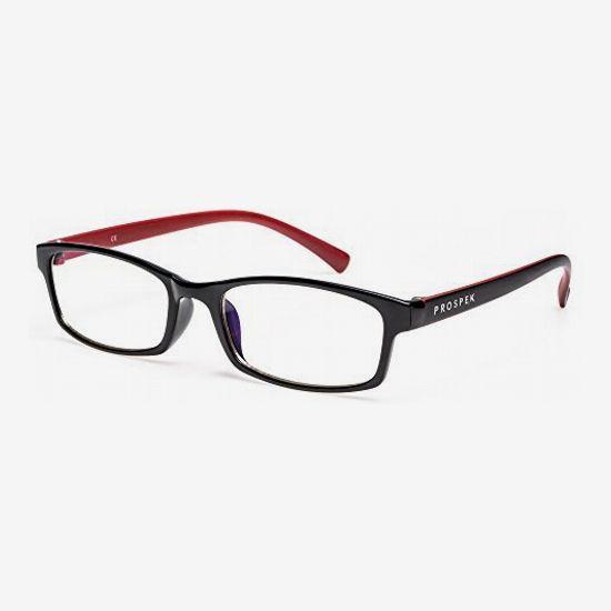 PROSPEK Premium Computer Glasses - Regular Size, Red and Black