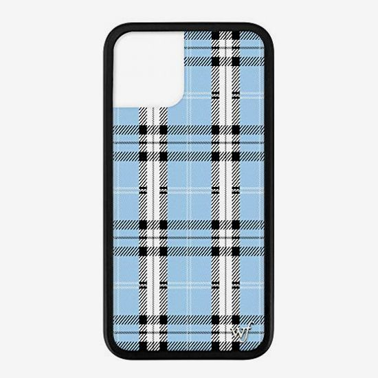 Wildflower Blue Plaid Limited Edition Cases for iPhone
