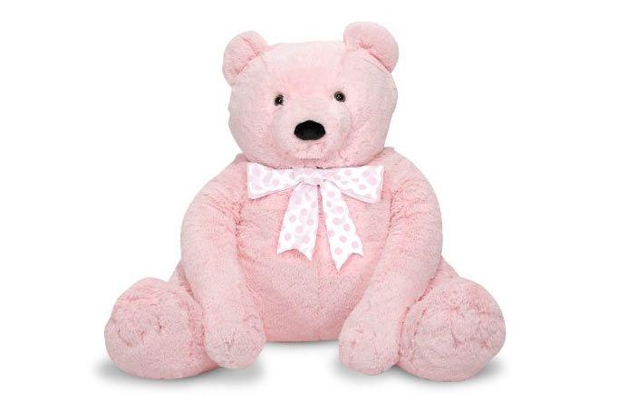 Melissa U0026 Doug 24u201d Jumbo Pink Teddy Bear