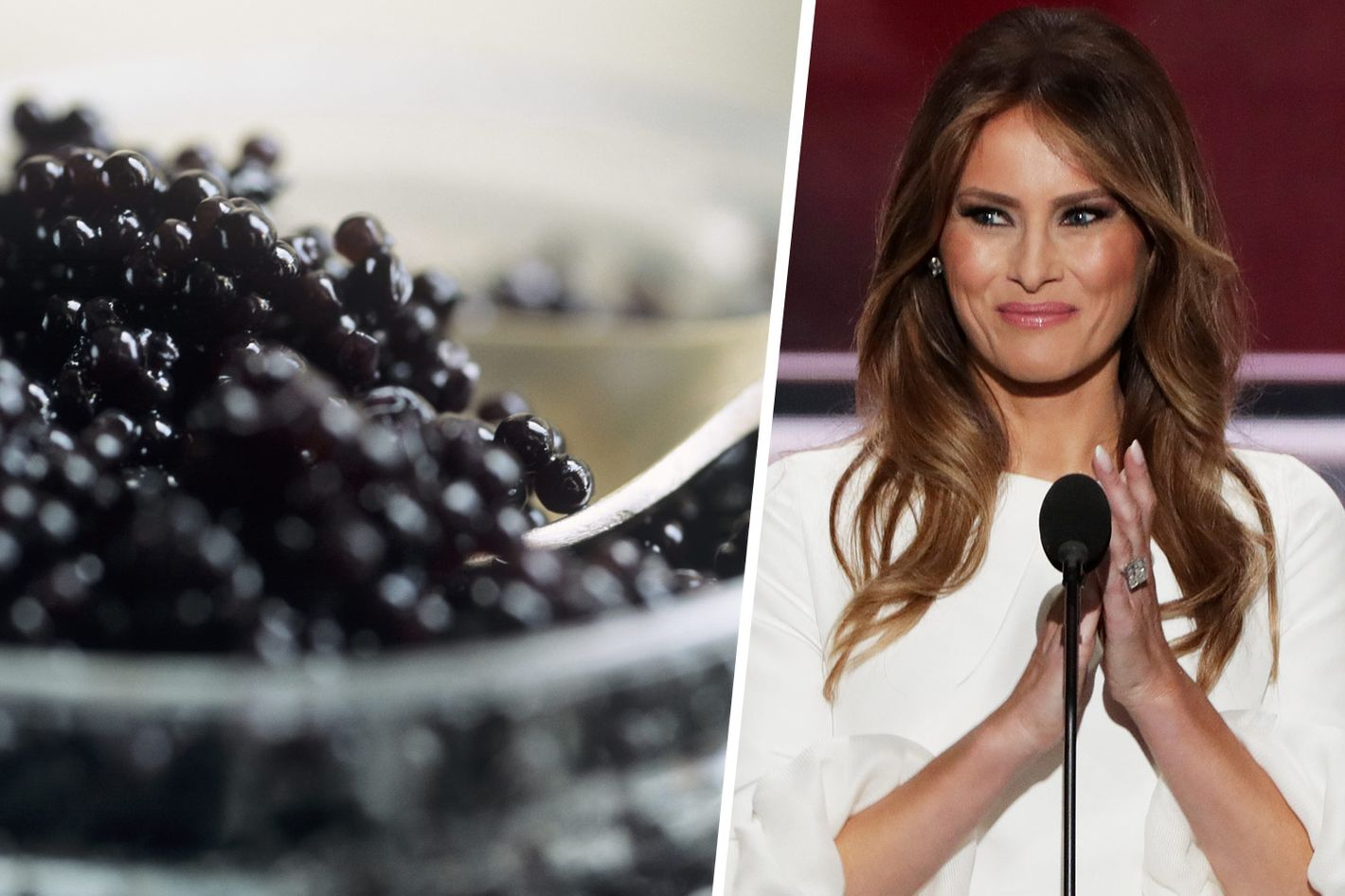 inside the juicy drama surrounding melania trump s caviar
