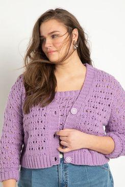 Eloquii Crop Sweater Cardigan