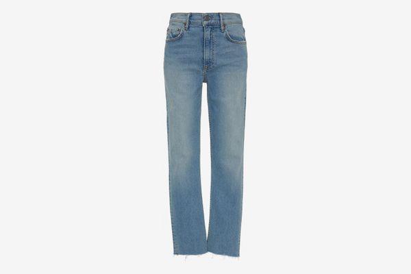 GRLFRND Denim Reed Cropped High-Rise Skinny Jeans