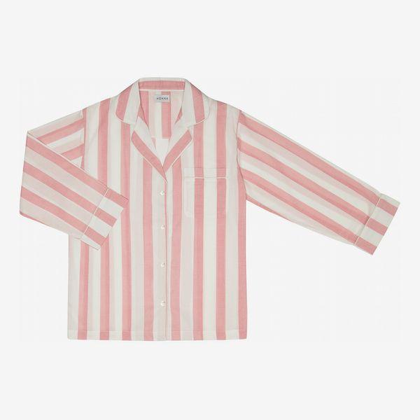 Powder Pink Stripe Pyjama Set