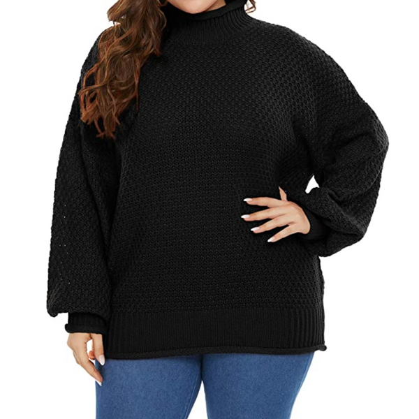 Hanna Nikole Plus Size Knitted Turtleneck
