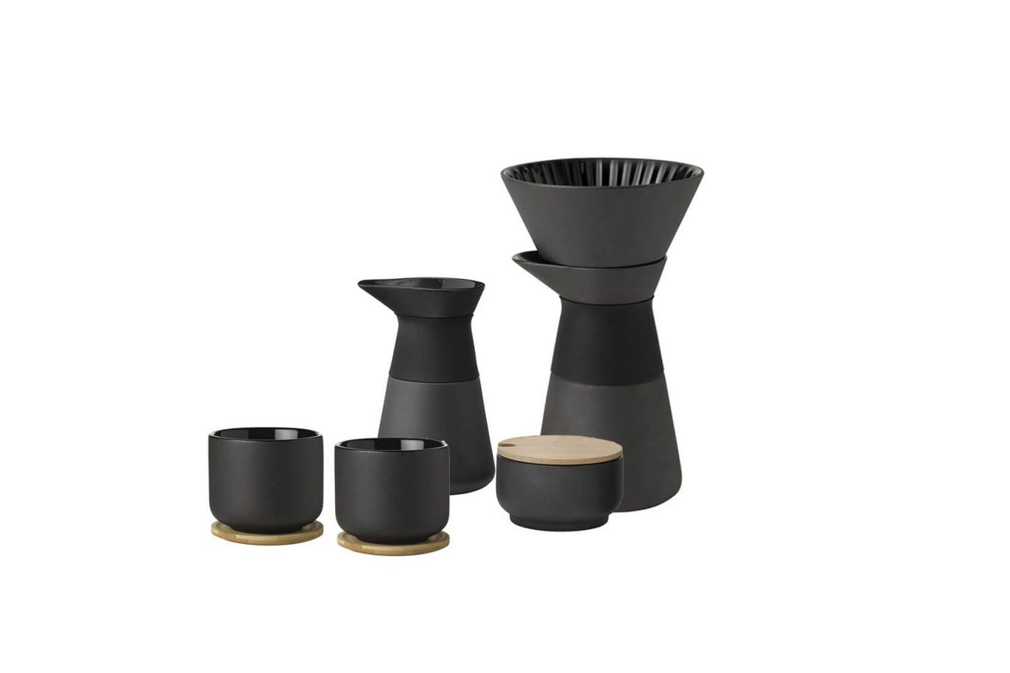 Theo stoneware pour-over coffee kit