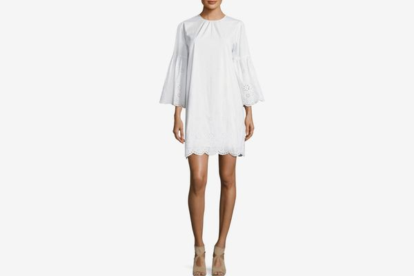 Michael by Michael Kors Eyelet Scallop Shift Dress