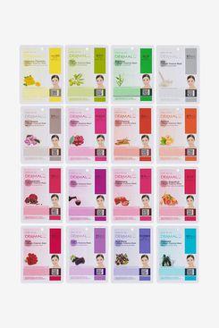 Dermal Korea Collagen Essence Facial Mask Sheet, 16-Pack