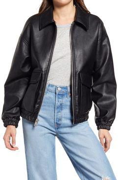 Levi's Dad Water Resistant Faux Leather Zip Jacket