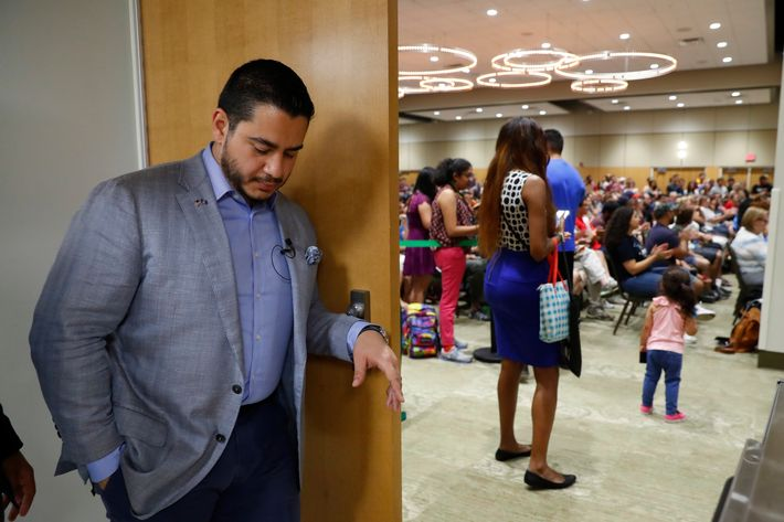 Michigan Democratic gubernatorial candidate Abdul El-Sayed waits to speak at a campaign stop in Detroit, Saturday, July 28, 2018.