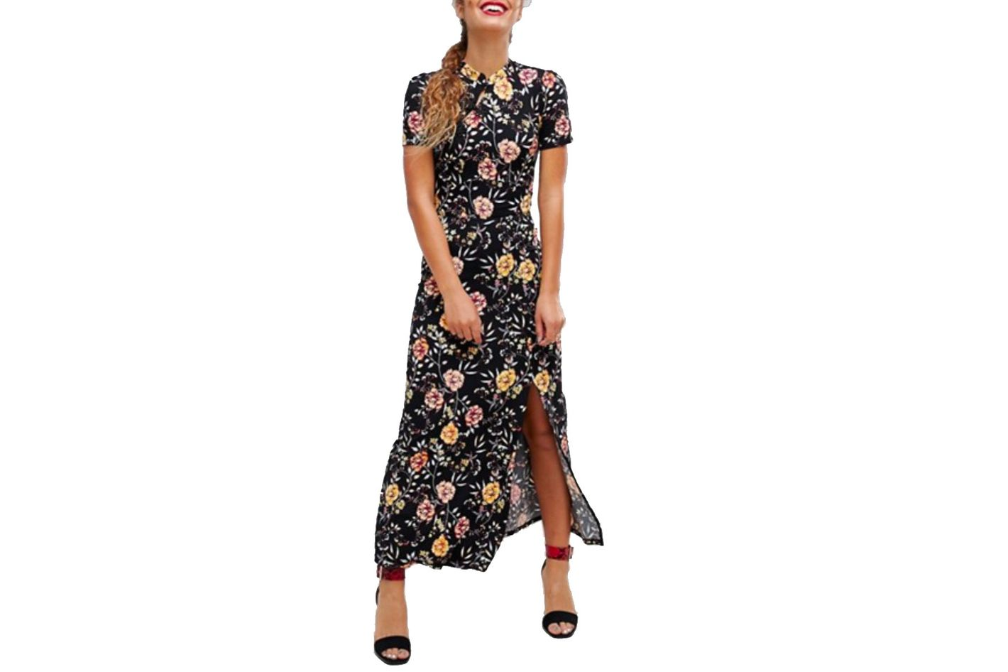 ASOS Chinoiserie Print Maxi Tea Dress