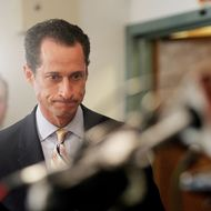 U.S. Rep. Anthony Weiner (D-NY) enters to announce his resignation June 16, 2011 in the Brooklyn borough of New York City. The resignation comes ten days after the congressman admitted to sending lewd photos of himself on Twitter to multiple women.