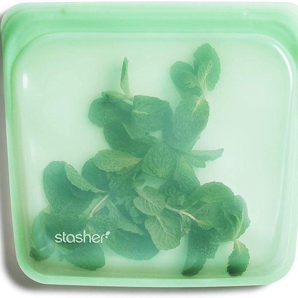 Stasher 100% Silicone Food Grade Reusable Storage Bag, Mint