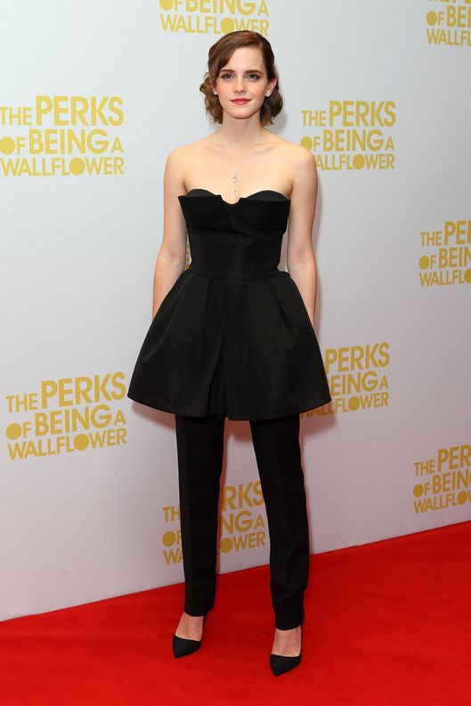 LONDON, ENGLAND - SEPTEMBER 26:  Emma Watson attends a special screening of 'The Perks of Being The Wallflower' at The Mayfair Hotel on September 26, 2012 in London, England.  (Photo by Mike Marsland/WireImage)
