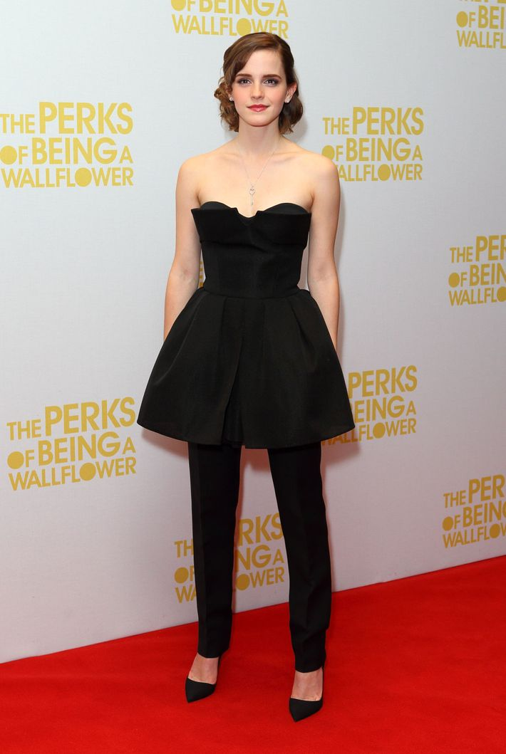 Emma Watson in Dior Couture.