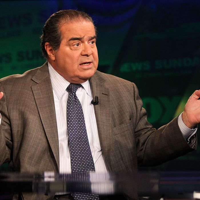 U.S. Supreme Court Justice Antonin Scalia takes part in an interview with Chris Wallace on
