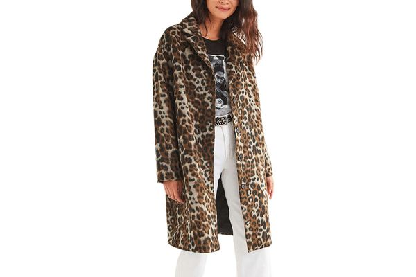 Urban Outfitters Leopard Print Overcoat