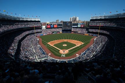 A general view of Yankee Stadium from the upper deck during a day game between the New York Yankees and the Detroit Tigersd at Yankee Stadium on Sunday, April 29, 2012 in the Bronx borough of New York.