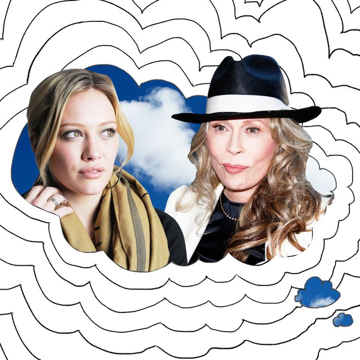 Hilary Duff and Faye Dunaway.