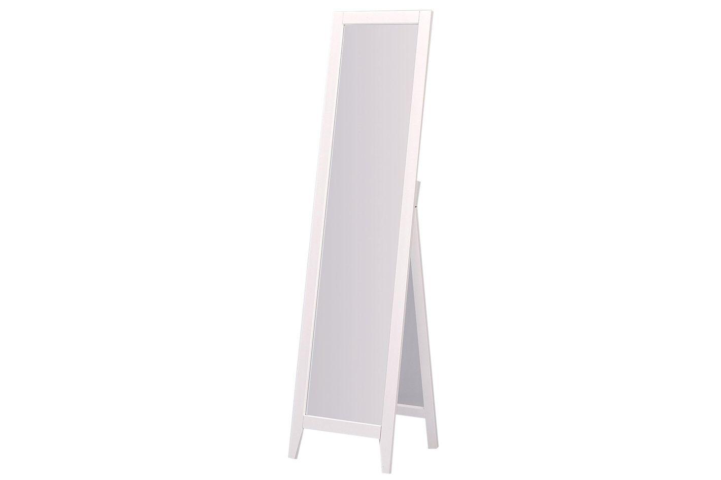 Full length white wall mirror