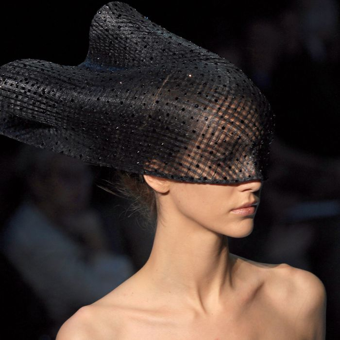 A spring 2012 Armani Prive haute couture look.