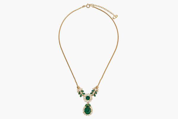 Christian Dior x Susan Caplan 1976 Archive Tear Drop Necklace