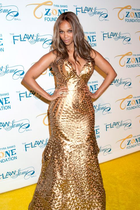 06 May 2014, New York City, New York State, USA --- Tyra Banks' 2014 Flawsome Ball -Arrivals-NYC Cipriani's Wall Street, NY Pictured: Tyra Banks --- Image by ? Mayer RCF/Splash News/Corbis