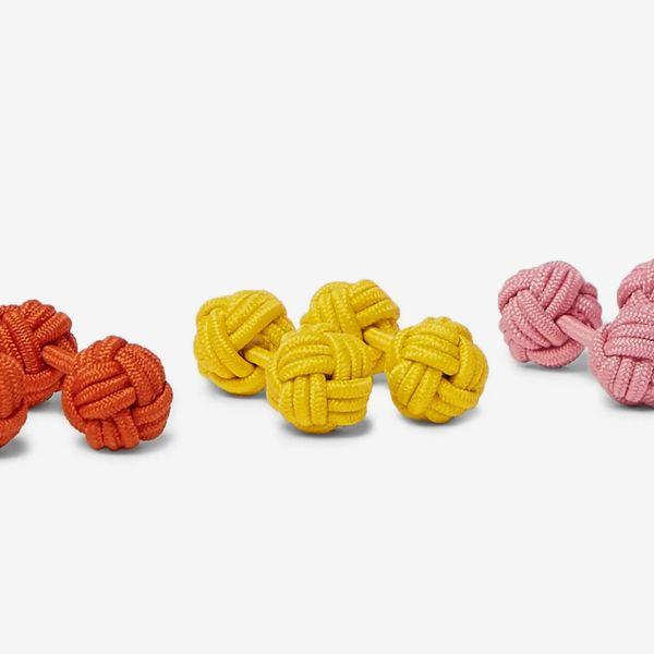Charvet Set of Three Knotted Cuff Links